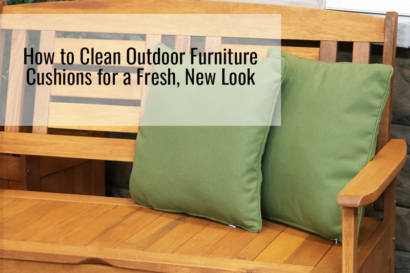 how to clean outdoor furniture cushions