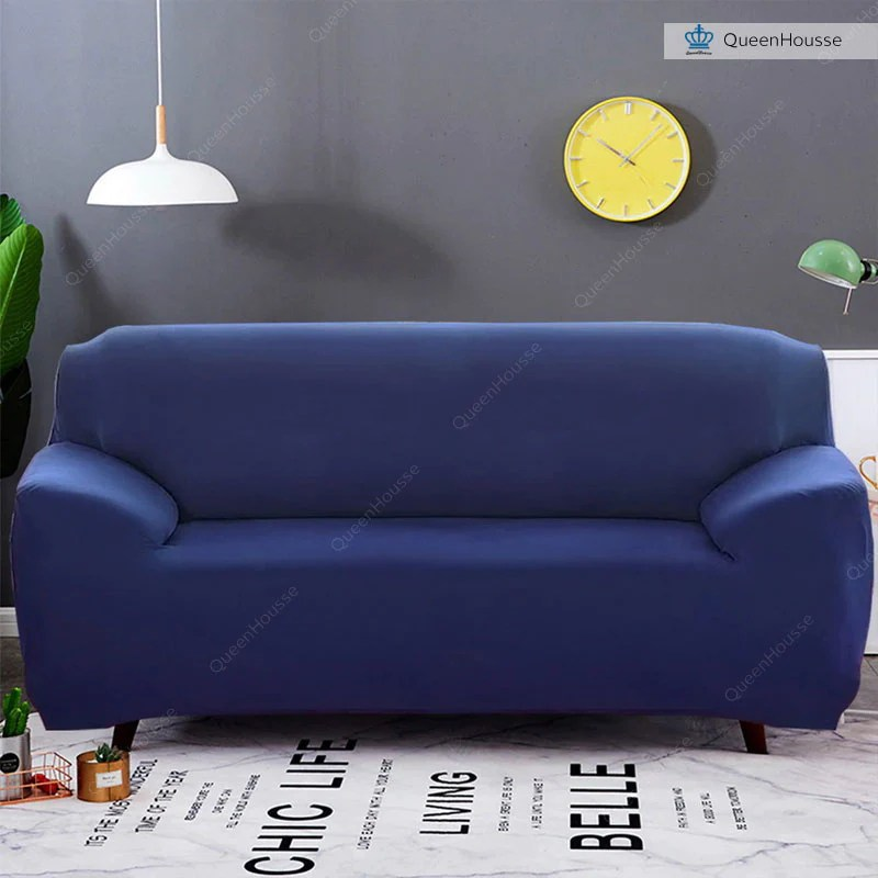 housse canape bleu marine
