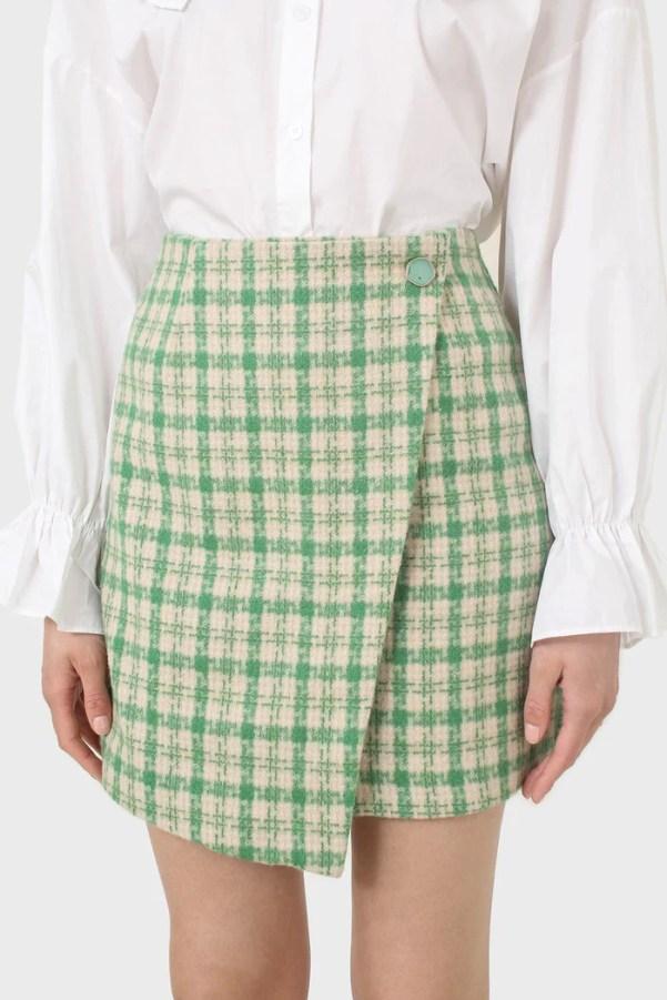 Green checked mini skirt Glassworks