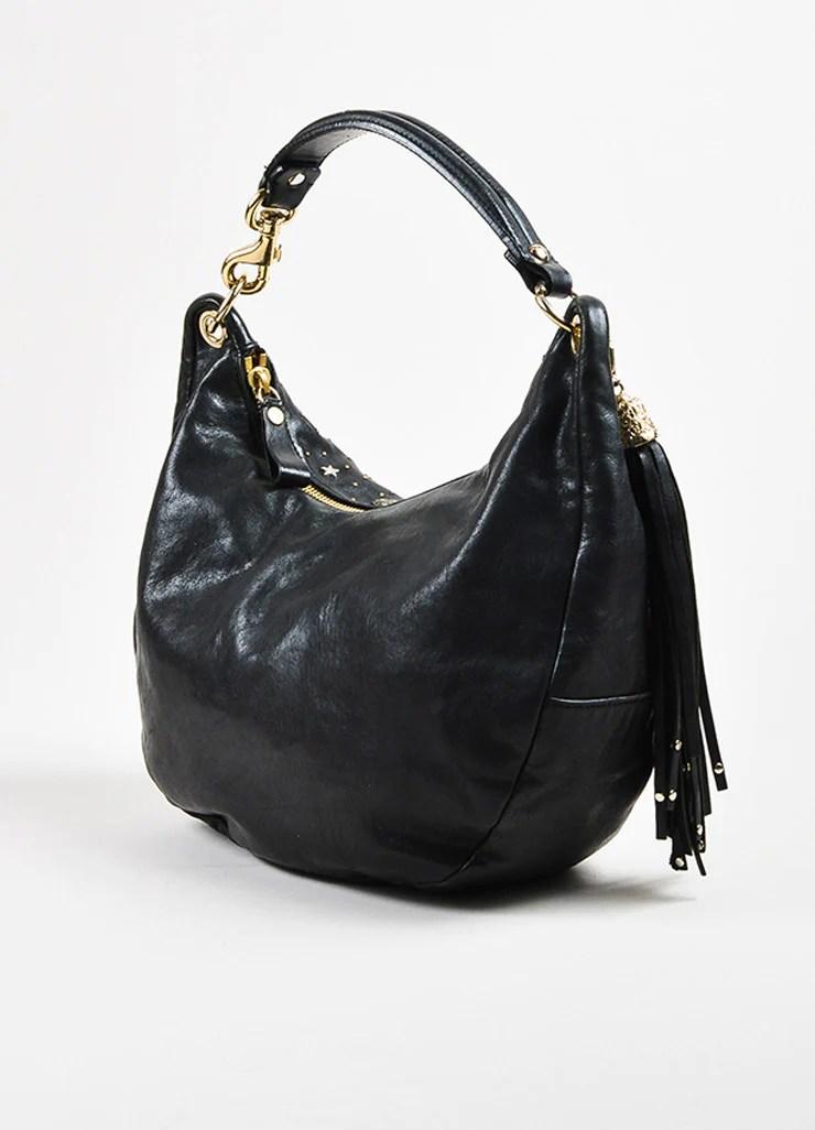 5329f76b4 Black Jimmy Choo Leather Studded Embellished