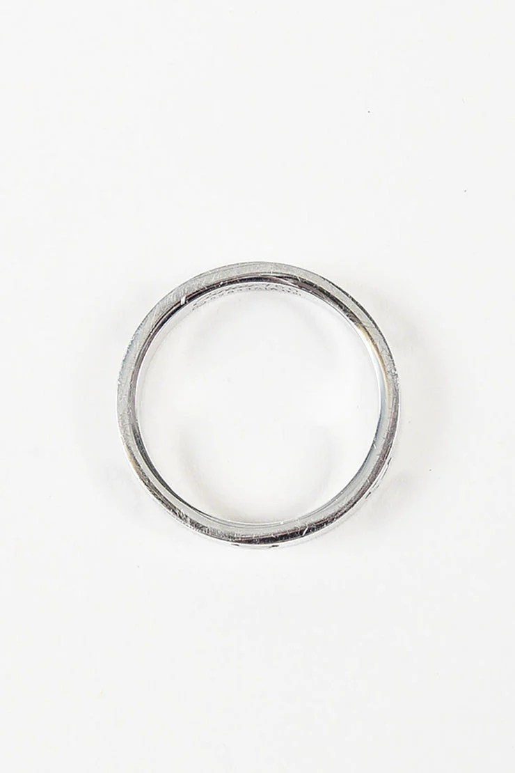 18K White Gold Cartier Love Wedding Band Ring Luxury