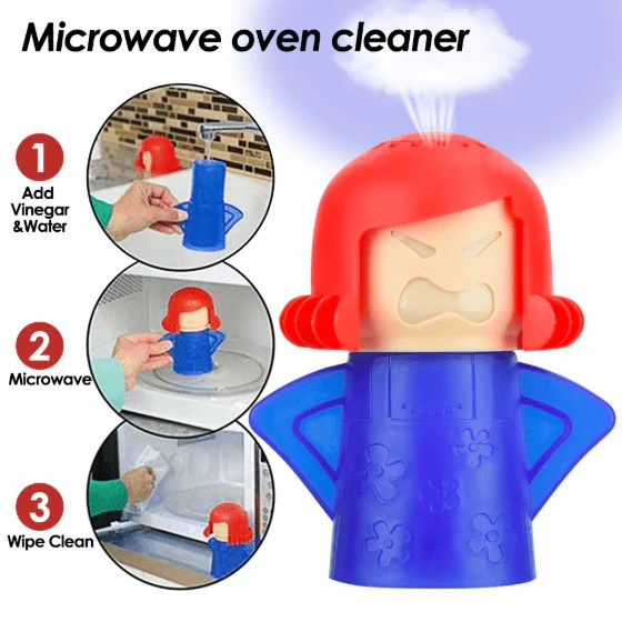 microwave oven steam cleaner angry mama