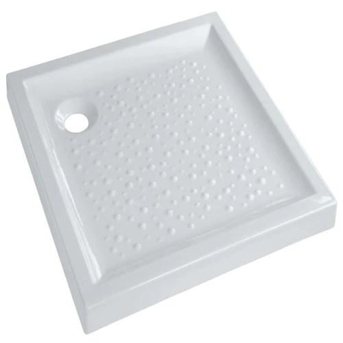 receveur geberit bastia ceramique 90 x 90 extra plat a poser pour bonde siphoide de 90 ref 00723200000001