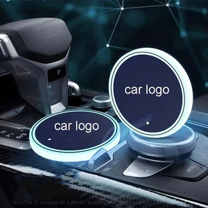 (50% OFF) 7 Colors Led Car Logo Cup Lights up Holder