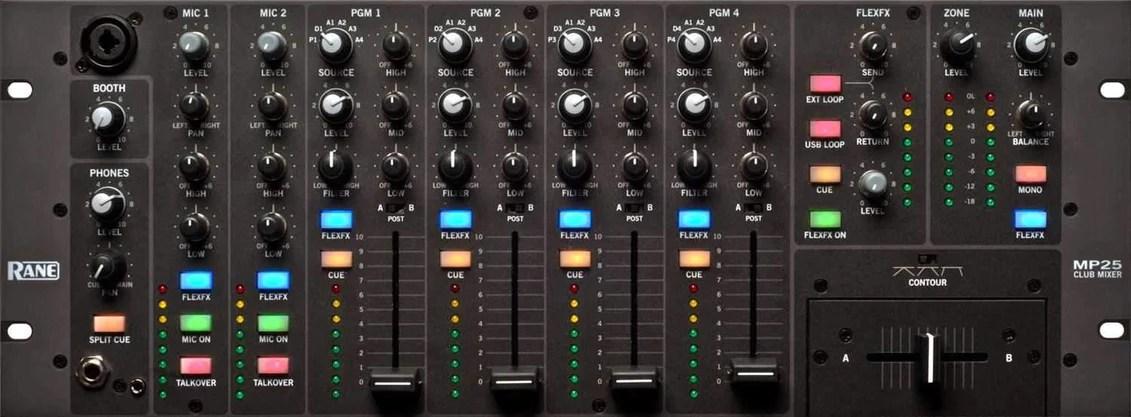 rane mp25 19 inch 6 channel rackmount dj mixer