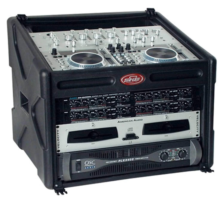 skb 106 dj station 10x6 rack case with cover