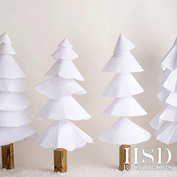 Paper Trees Christmas Photography Backdrops Babies Kids