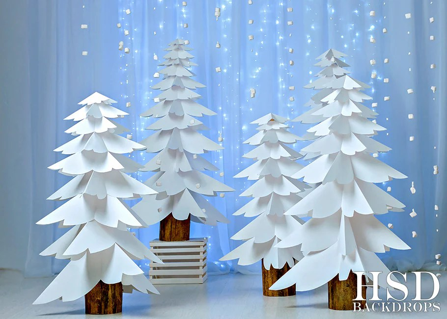 Theme Blue Christmas And White