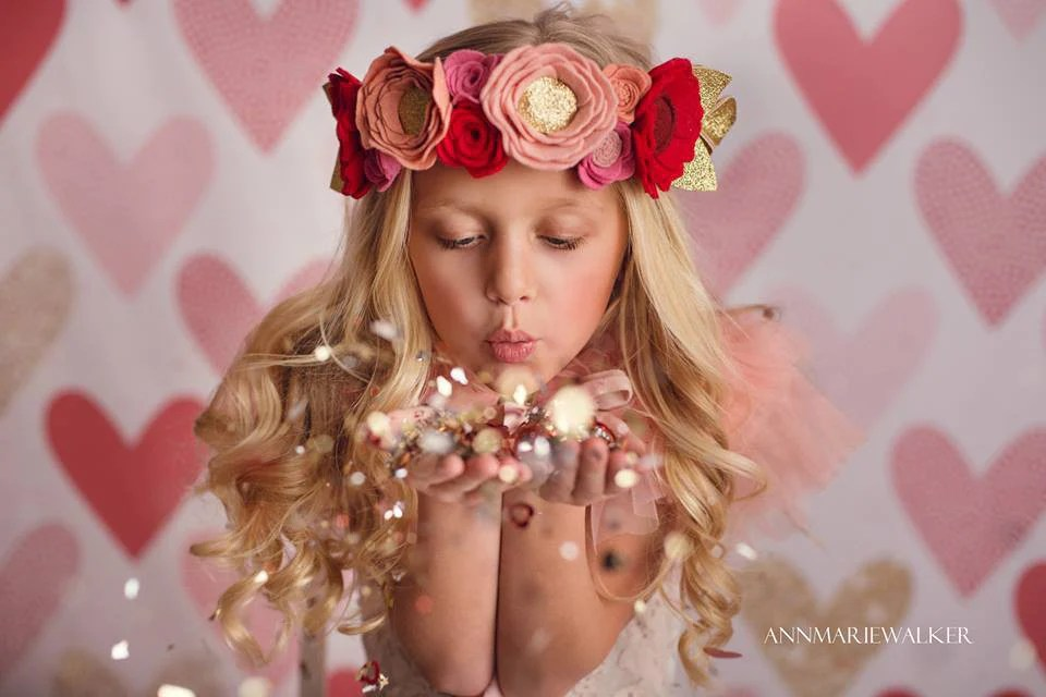 Red Photography Backdrop Valentines Day Photo Props HSD