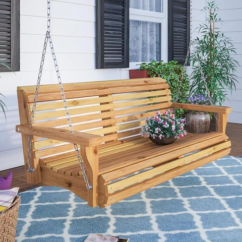 large 6 foot bench swings perfect for