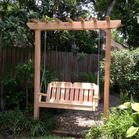 free standing porch swing