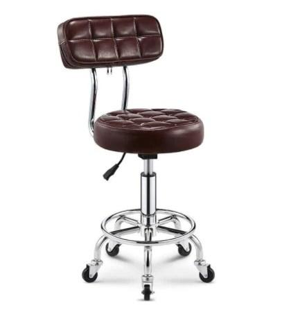 chaise de bar industriel cabo vintage sur roulettes