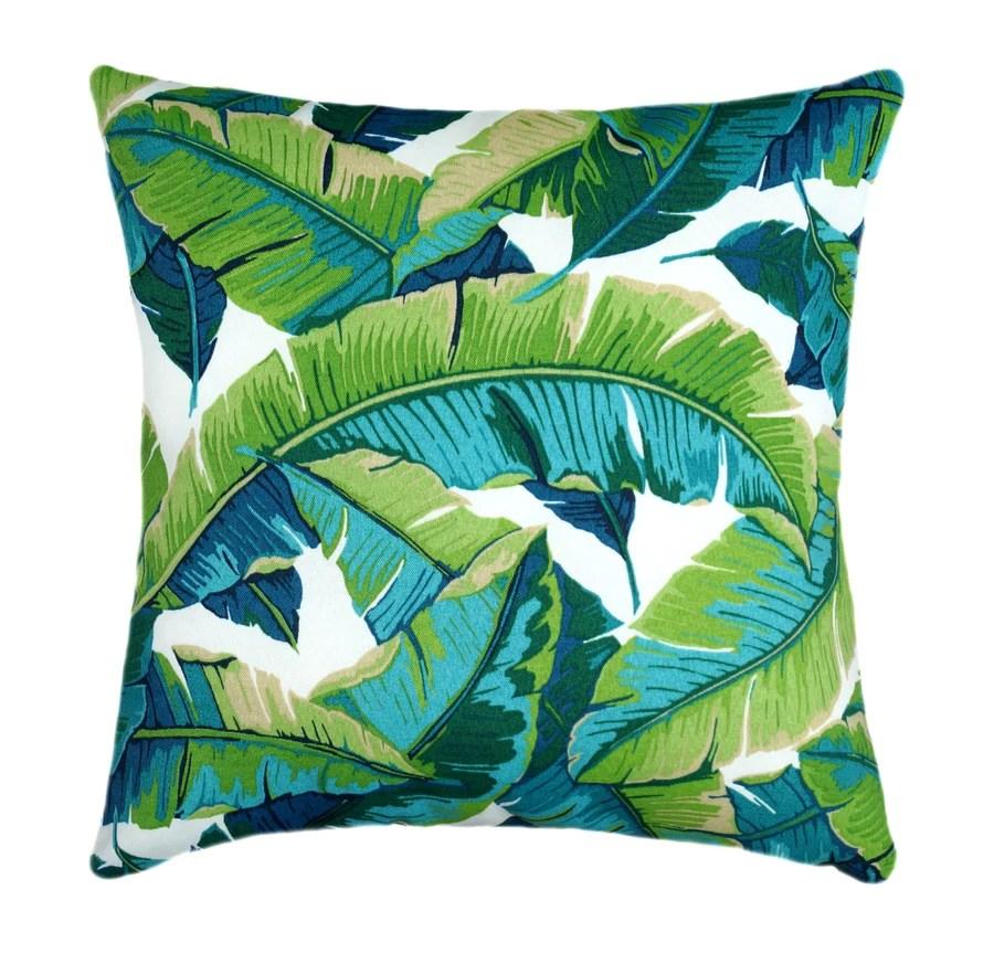 opal outdoor green banana leaf pillow