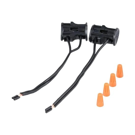 hampton bay low voltage black replacement cable connector 2 pack home supply inc