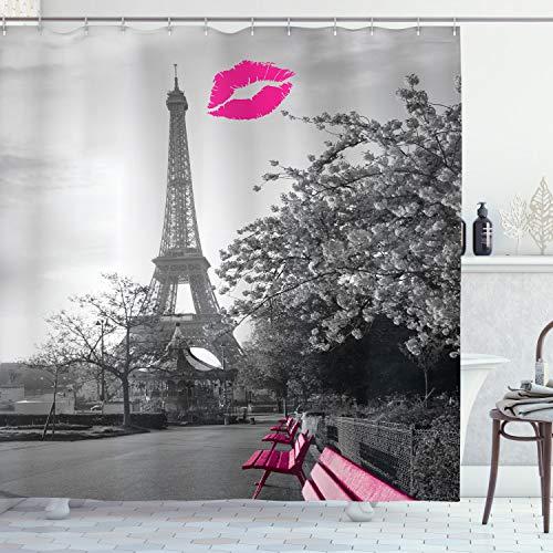 ambesonne paris shower curtain romantic monochrome photo of eiffel to homeloft europe