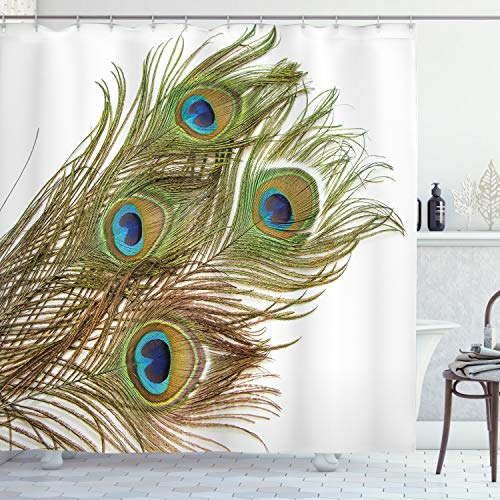 ambesonne peacock shower curtain macro peacock tail feather like thir homeloft europe