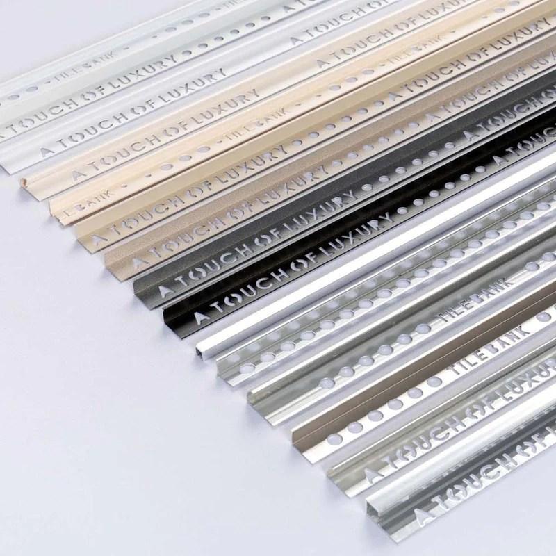 flat edge black aluminium tile trim
