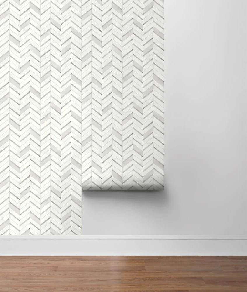 nextwall chevron marble tile peel and stick removable wallpaper
