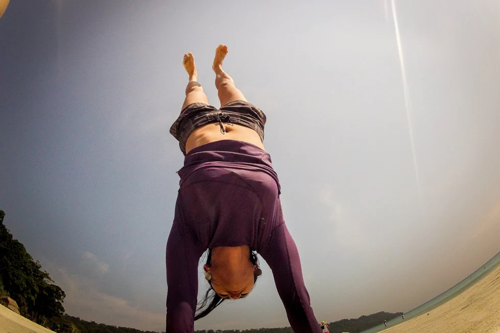 Handstand in Paradise by Thu Tran