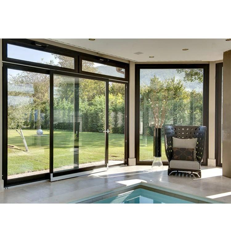 china wdma aama fancy 96 x 80 balcony 3 track powder coated aluminium glass sliding patio door