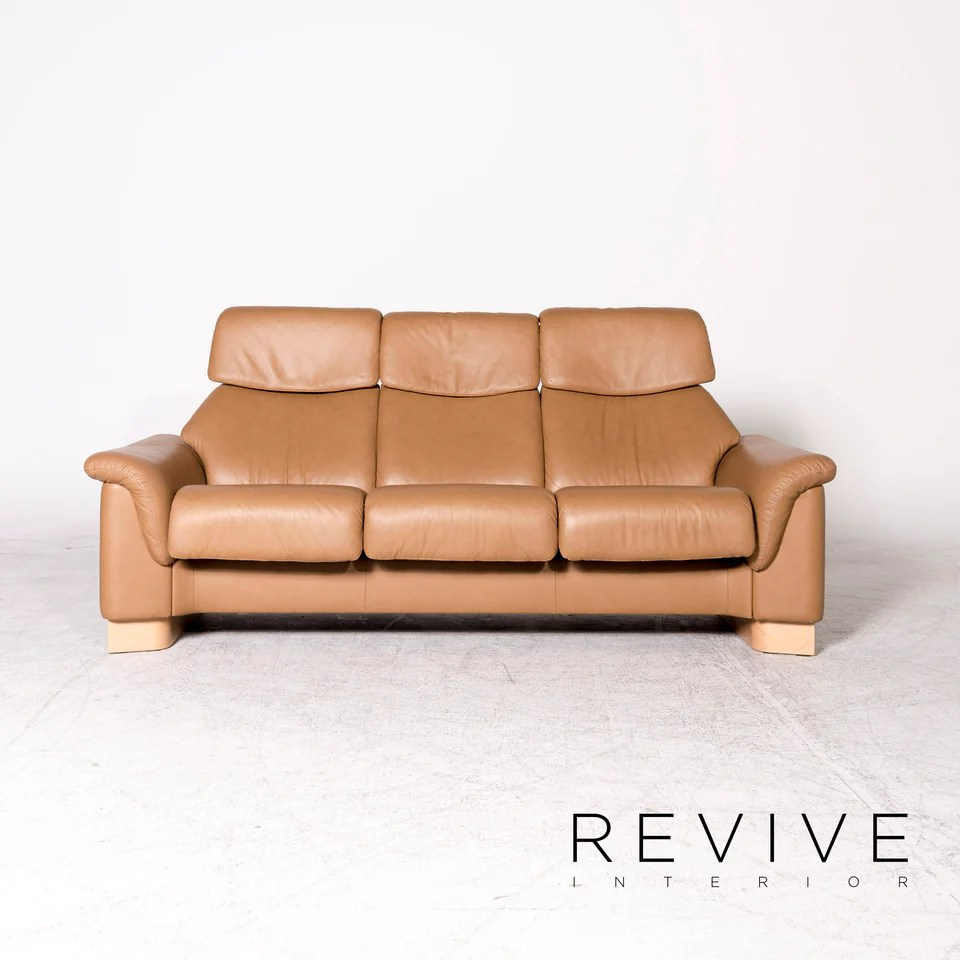 https reviveinterior de products stressless paradise designer leder high back sofa beige echtleder dreisitzer couch 8841