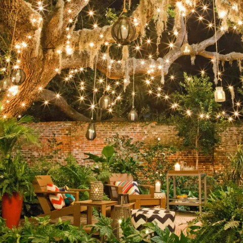 how to hang outdoor patio lights