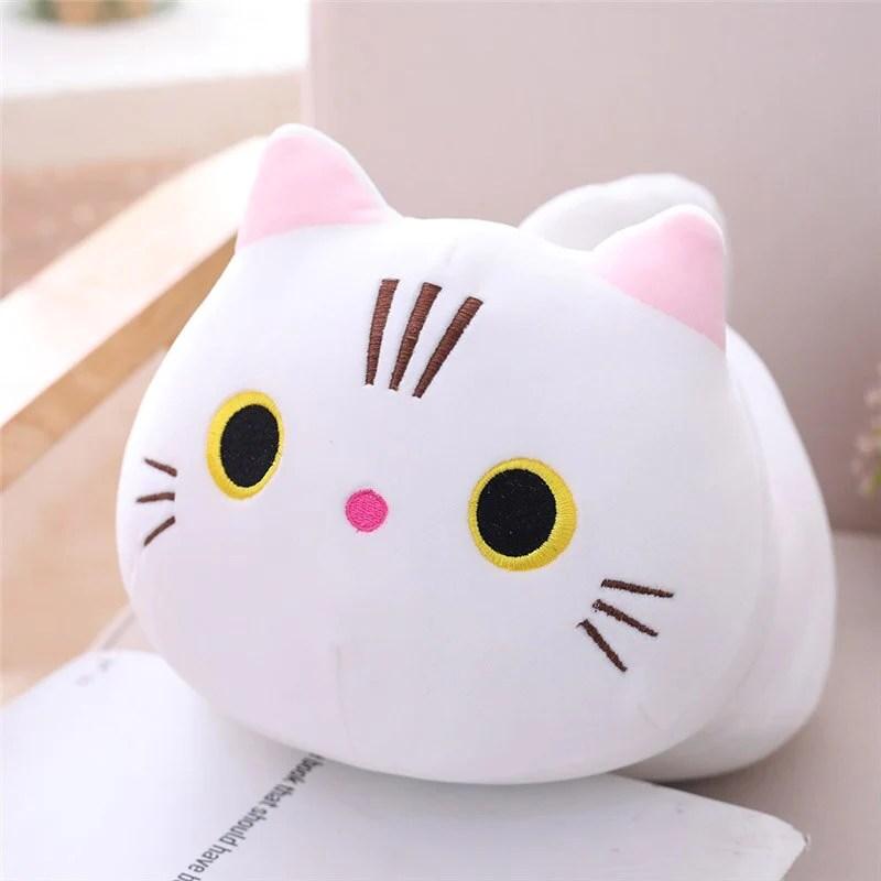 stuffed cat plush pillow meowmyday