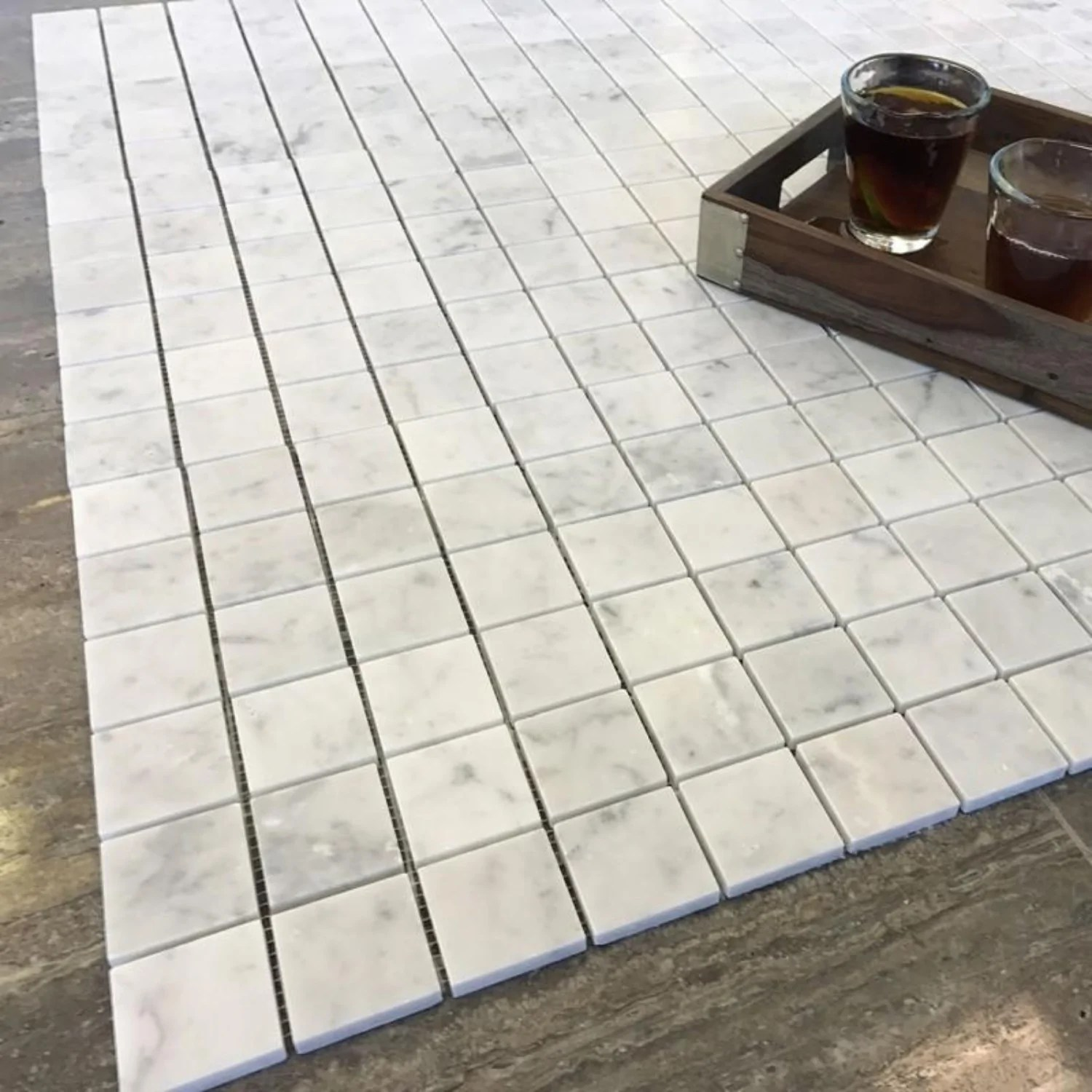 all marble tiles
