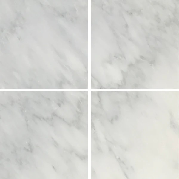 arabescato carrara 6x6 honed and polished marble floor and wall tile 8 50 sf