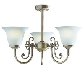 Plumstead Antique Brass 3 Arm Semi Flush Ceiling Light Id 2104 London Lighting Limited