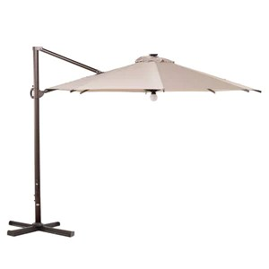 similan solar light 11 ft outdoor round offset cantilever patio umbrella with wind vent