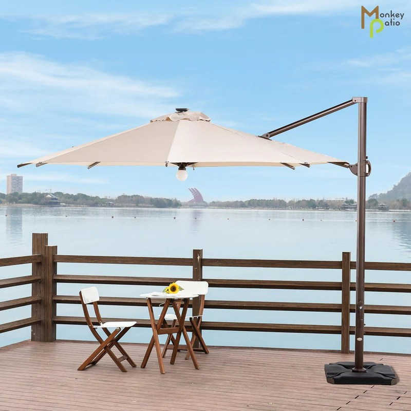 https www monkeypatio com products similan solar 11ft offset cantilever round patio umbrella