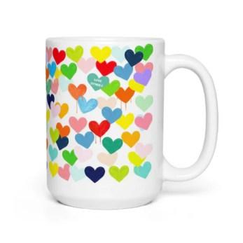 Confetti Hearts Mug