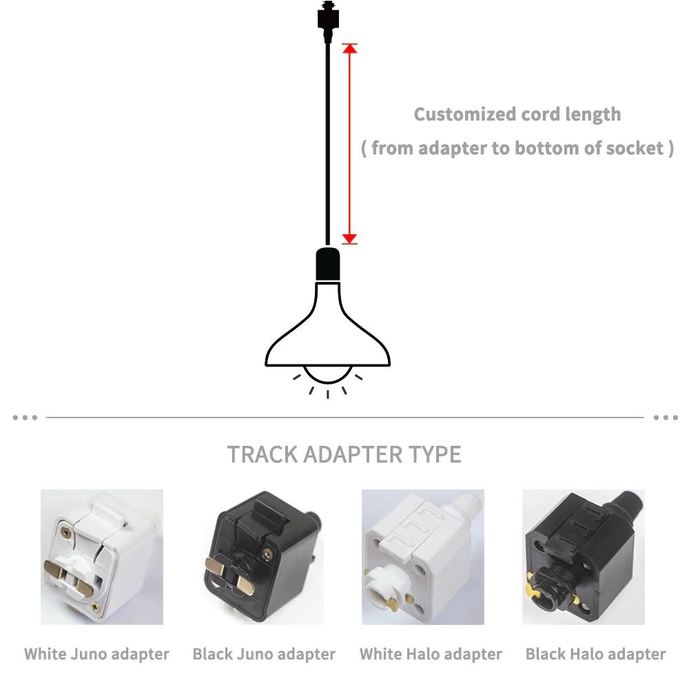 track lighting mini pendant light 3 pcs