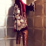 Maroon Velvet Suit With Pakistani Pant Panache Haute Couture