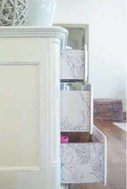 Lining Drawers with Removable Wallpaper