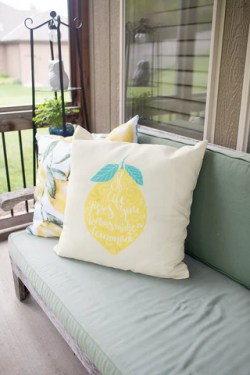 Make your outdoor space beautiful with some throw pillows by WallsNeedLove