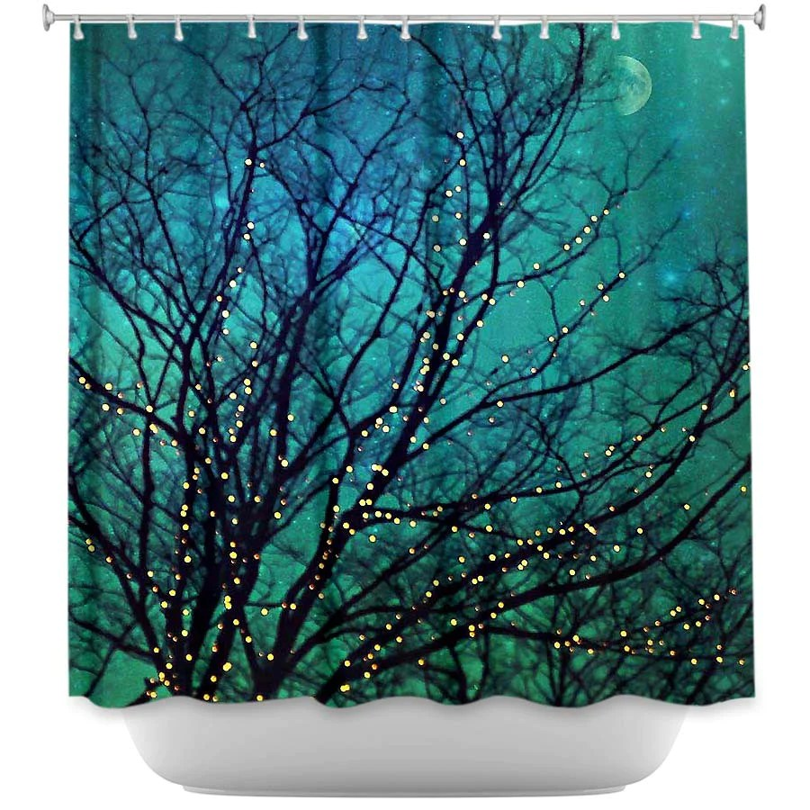 magical night by sylvia cook fabric shower curtain