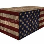 Fitted Table Cover Us Flag Wood Crate Stack Displays