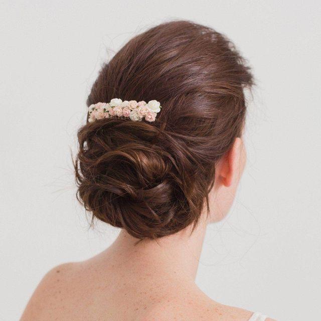 flower wedding hair comb - 'rose'