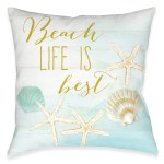 Beach Life Is Best Outdoor Decorative Pillow Laural Home