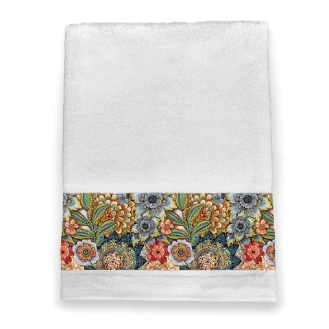 boho bouquet shower curtain laural home