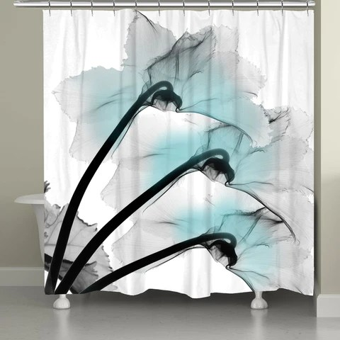 morning bloom shower curtain laural home