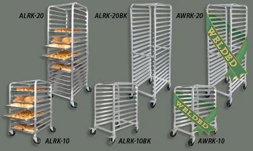 winco alrk 10 10 tier aluminum pan rack nsf