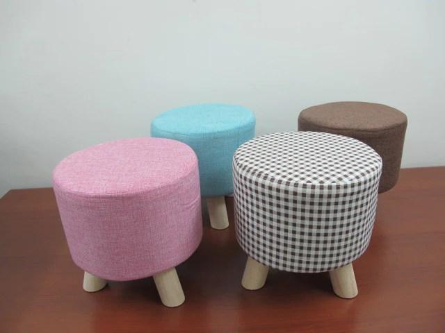 round fabric ottoman houzecart