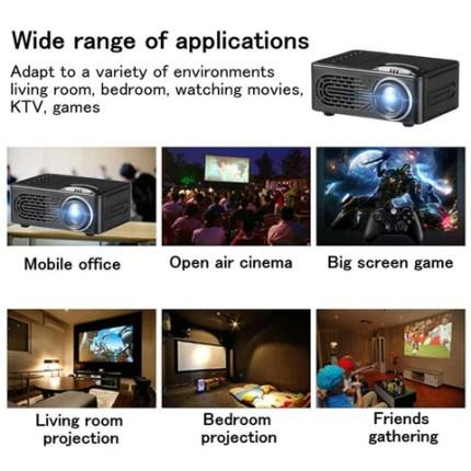 Portable Mini Projector 1080P HD Home Cinema Theater USB HDMI