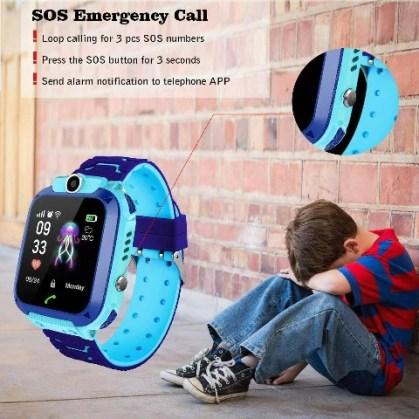 Kids Smart Watch GPS Anti-Lost Tracker Baby Waterproof Watch
