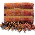 Double Weave Throw Blanket In Red Yellow And Orange Plaid Yali Stonington
