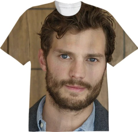 Jamie Dornan All Over Print T-Shirt by stine1, $38.00