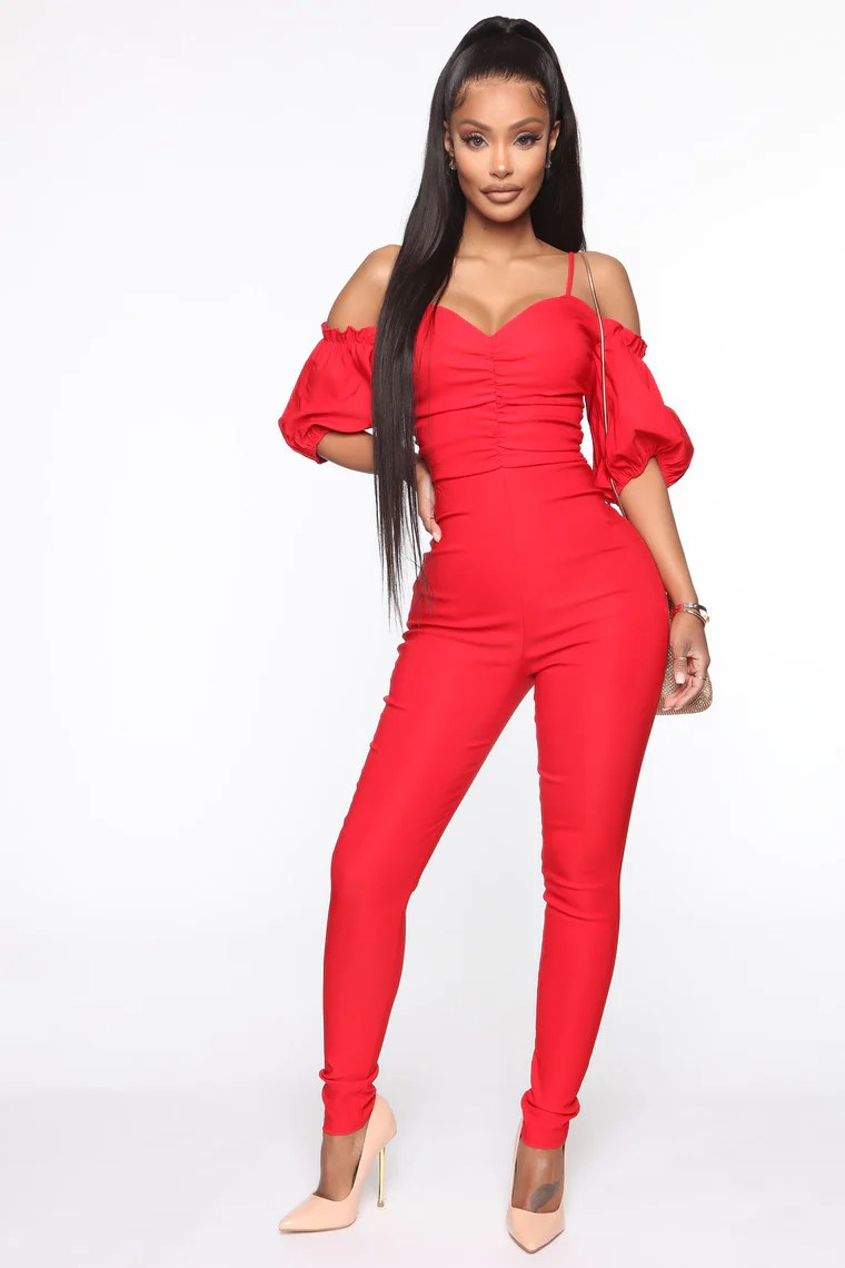 Our Girl Jumpsuit - Red 4